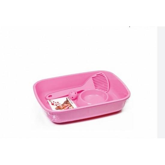 حوض رمل قطط مع ماكلية