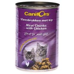 كانيفورس معلبات للقطط اللحم بالدجاج