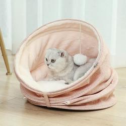 بيت سرير للقطط سهل الطي مع كابسول يغير شكله