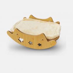 سرير خشبي مرجيحه للقطط