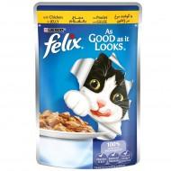 فليكس اكل قطط بطعم الدجاج