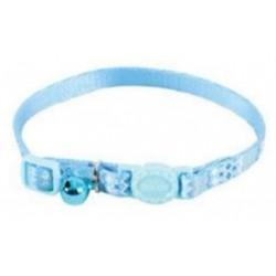 زولكس طوق قماشي للقطط مع الجرس - ازرق منقوش